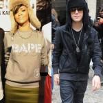 Rihanna Steals Justin Bieber's Style
